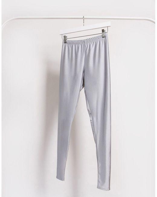 Серебристые Леггинсы -серебряный Fashionkilla, цвет: Metallic