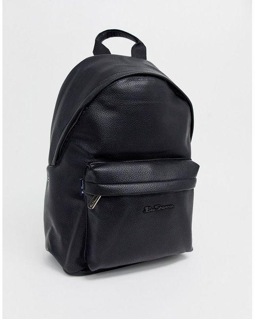 Ben Sherman Backpack In Black for men