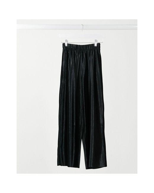 Черные Велюровые Кюлоты ASOS, цвет: Black