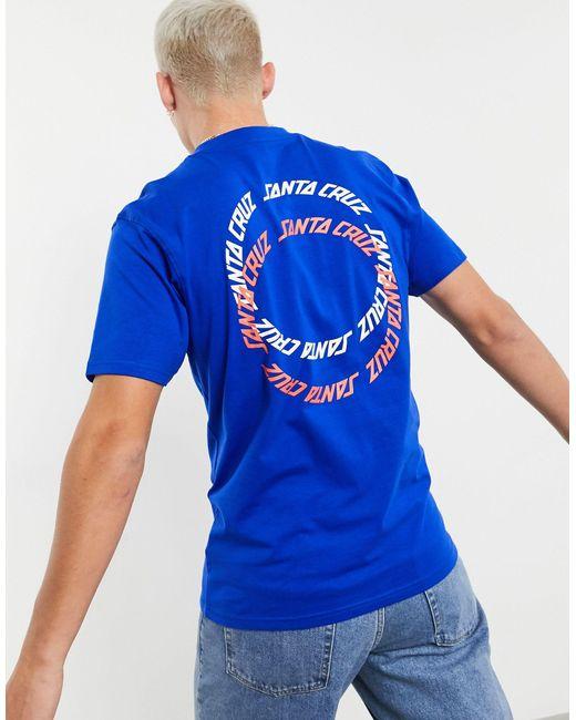 Santa Cruz – Rings – es T-Shirt, exklusiv bei ASOS in Blue für Herren