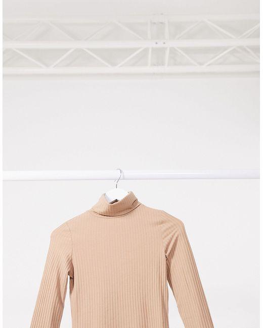 Бежевая Водолазка -бежевый New Look, цвет: Natural
