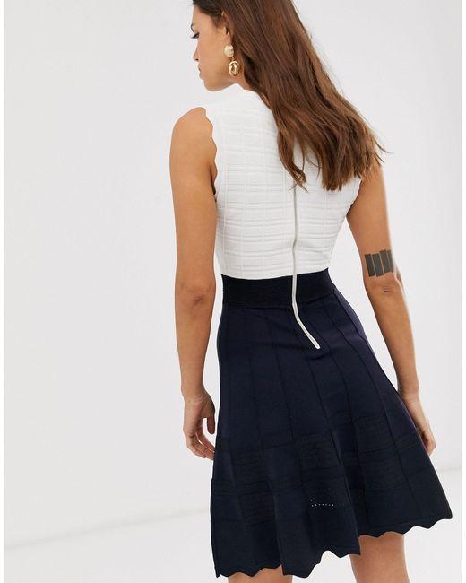 Вязаное Приталенное Платье Polino-мульти Ted Baker, цвет: Blue