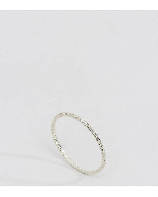 Dogeared | Metallic Sterling Silver Single Sparkle Karma Ring | Lyst