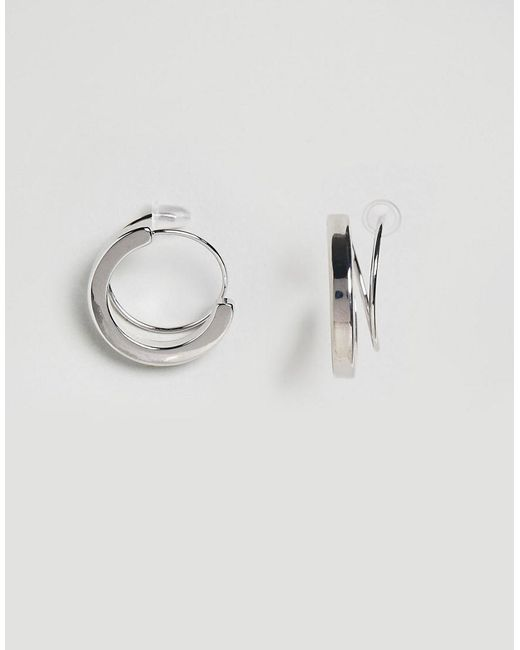 ASOS | Metallic Limited Edition Thread Through Hoop Earrings | Lyst