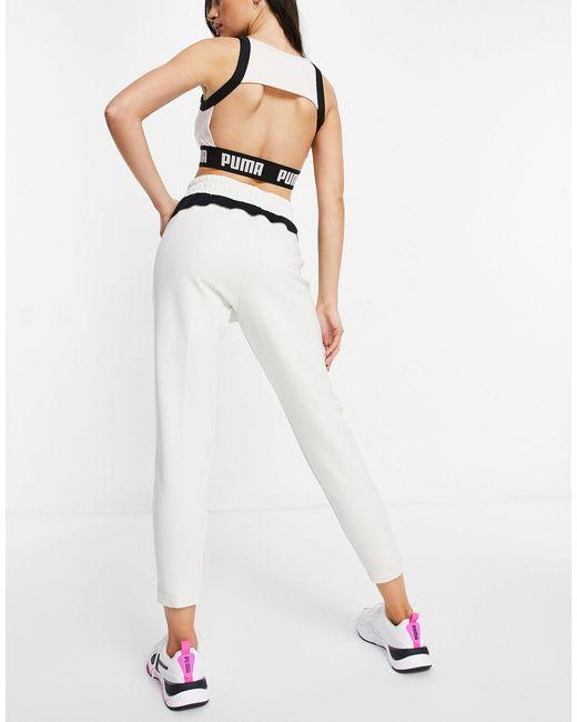 Светло-бежевые Джоггеры Training Evostripe-белый PUMA, цвет: White