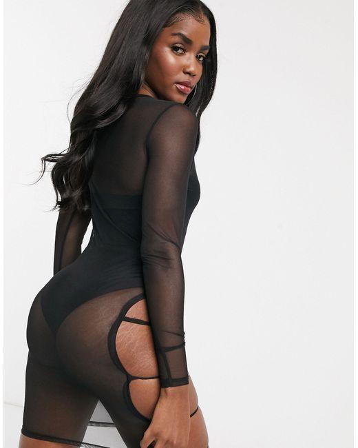 Прозрачное Платье Мини С Вырезами На Бедрах -черный South Beach, цвет: Black