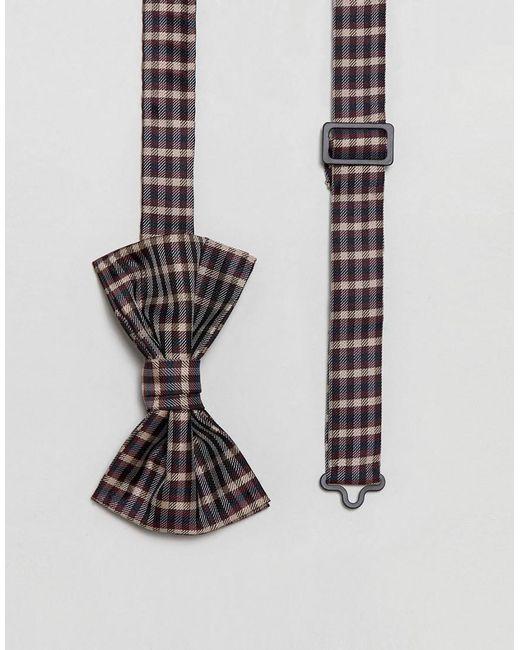 ASOS - Multicolor Design Checked Bow Tie for Men - Lyst