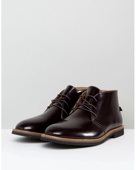 Smith Hi Shine Short Lace Up Boots - Red Farah Q4YFozNGd5