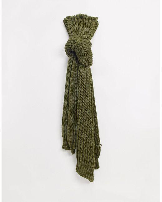 Écharpe en maille scintillante à motif Bélier - Kaki Superdry en coloris Green