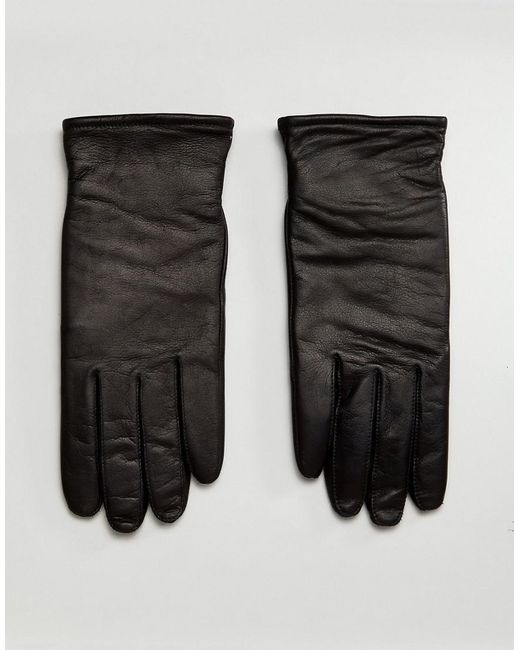 AllSaints - Yield Leather Gloves In Black for Men - Lyst