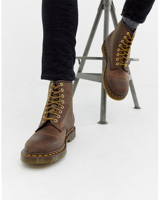 319fe1f528c Men's 1460 8-eye Boots In Brown