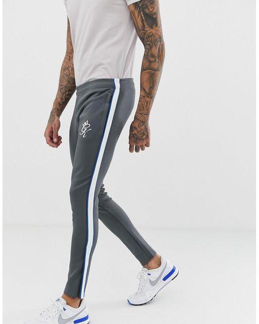 Gym King Schmal zulaufende Jogginghose aus Trikotstoff in Gray für Herren