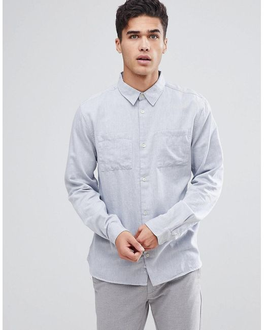 Bellfield - Blue Long Sleeve Shirt for Men - Lyst