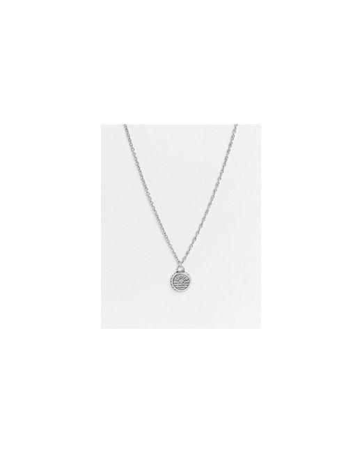 Серебристое Ожерелье С Подвеской С Гравировкой В Виде Солнца -серебристый Classics 77 для него, цвет: Metallic