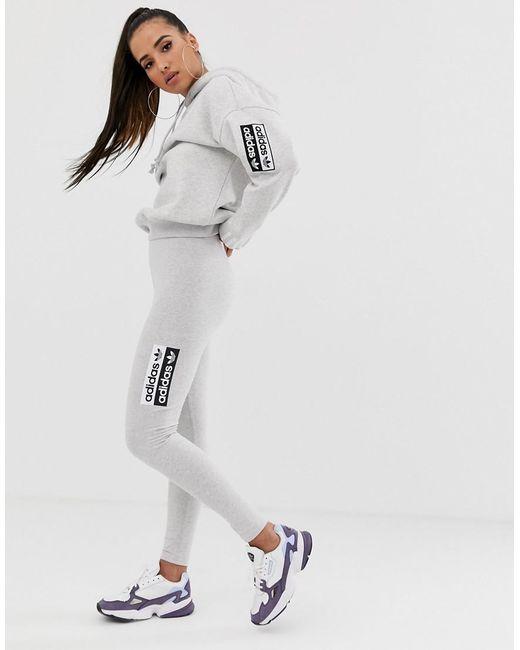 Ryv Trefoil leggings In Gray