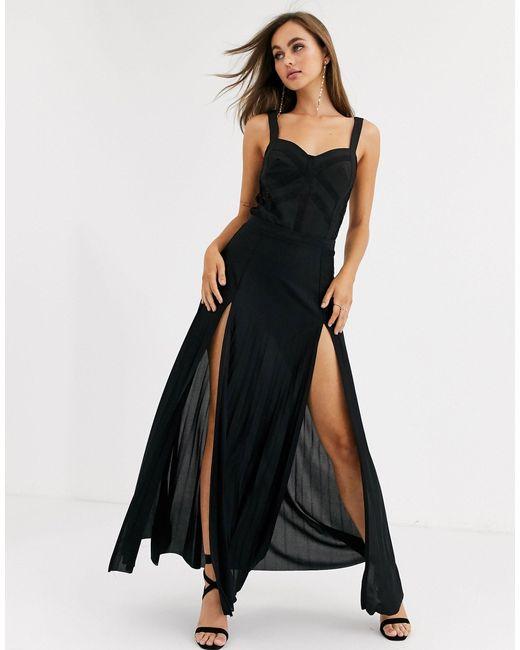 Черное Боди С Кружевными Вставками -черный Little Mistress, цвет: Black