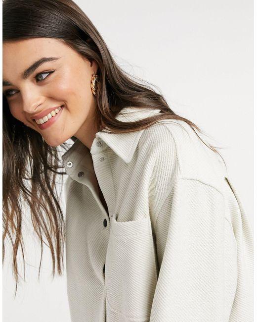 Бежевая Рубашка Из Органического Хлопка Betsey-бежевый Weekday, цвет: Natural