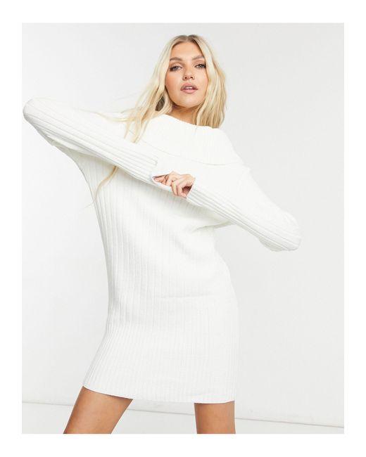 Белое Платье-джемпер -белый Glamorous, цвет: White