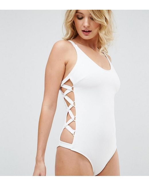 Clearance Browse Shopping Online Cheap Price Womens Scoop Swimsuit Wolf and Whistle Discount Ebay Sale Sast AhzJa