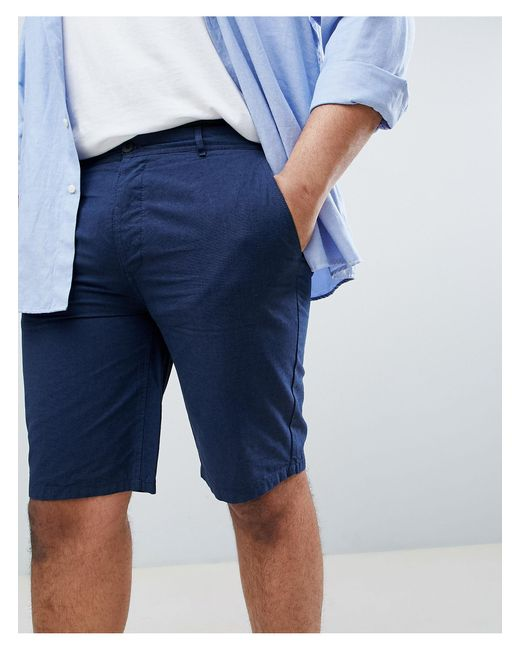 River Island Blue Big & Tall Chino Shorts for men