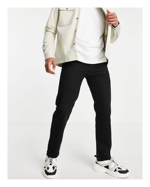 Topman Black Straight Jeans for men