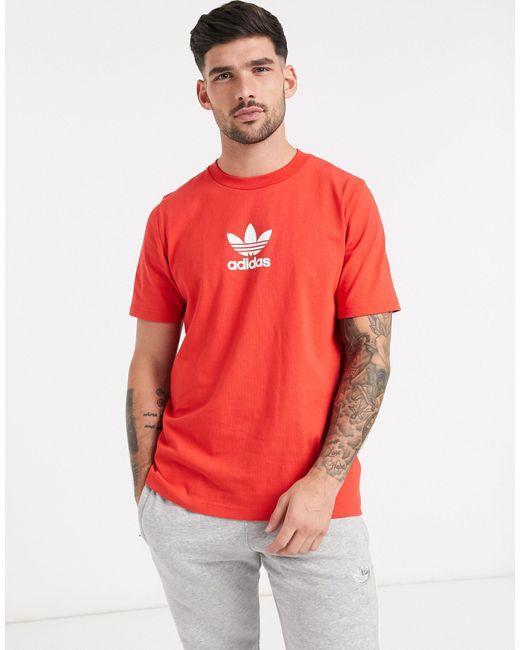 Красная Футболка Premium-красный Adidas Originals для него, цвет: Red