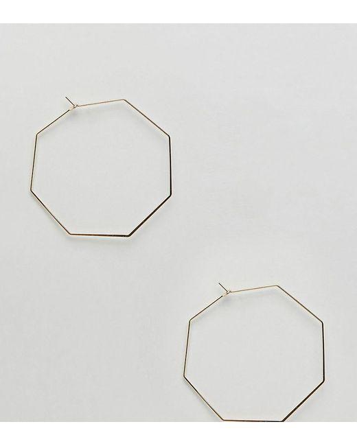 Orelia   Metallic Gold Oversized Hexagon Hoop Earrings   Lyst
