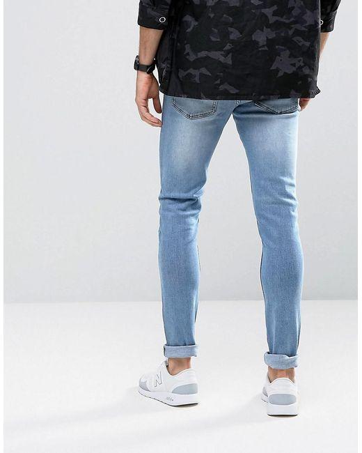 billigt pris rabatt försäljning spetsar in Cheap Monday Denim Skinny Jeans In Stonewash Blue for Men - Lyst