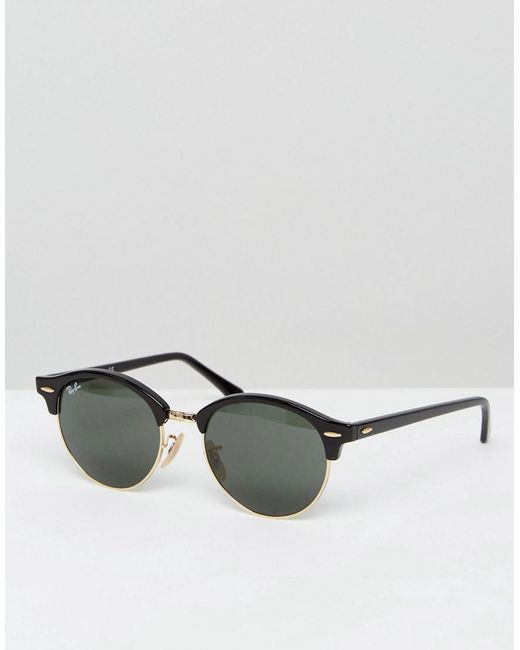 51ec0f0647 Ray-Ban - Black Clubmaster Round Sunglasses 0rb4246 for Men - Lyst ...