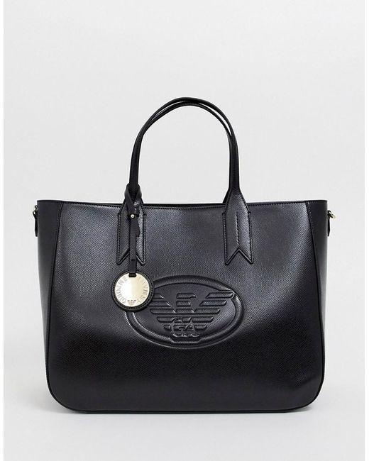 Emporio Armani - Black Logo Tote Bag - Lyst ... e6eb8bef0e