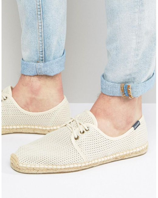 Soludos | Natural Derby Lace Up Mesh Espadrilles for Men | Lyst