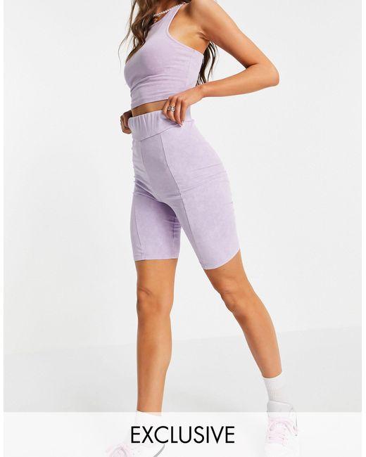 Фиолетовые Выбеленные Шорты-леггинсы От Комплекта -фиолетовый Цвет Collusion, цвет: Purple