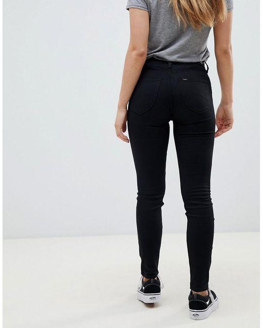 legjobb ár-érték vásárolni a legjobb széles fajták Lee Jeans Denim Lee Scarlett High Rise Skinny Jeans in Black - Lyst
