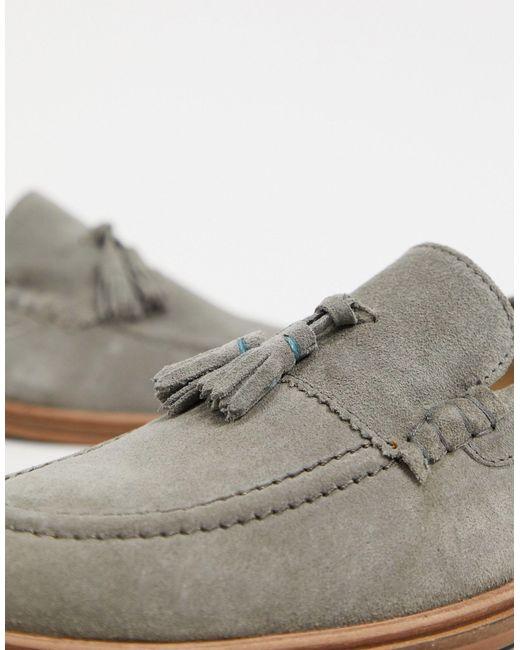 West - Mocassins à glands - Daim gris Walk London pour homme en coloris Gray