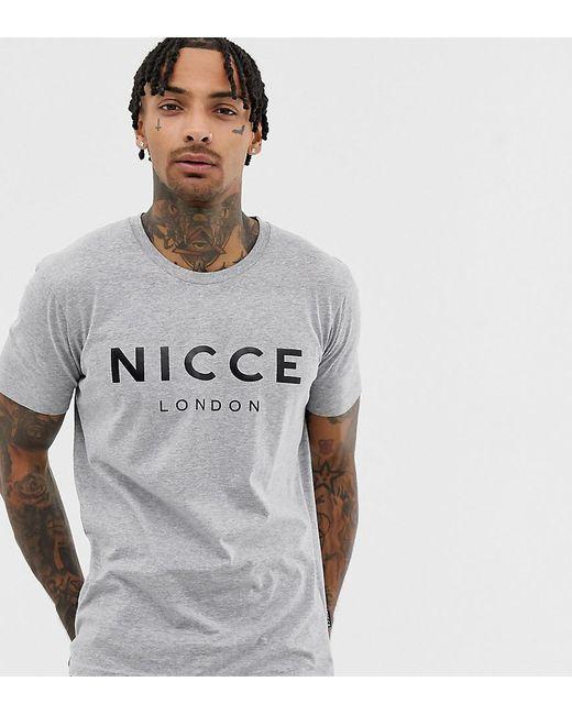 23874b1c1 Nicce London Logo T-shirt In Gray in Gray for Men - Lyst