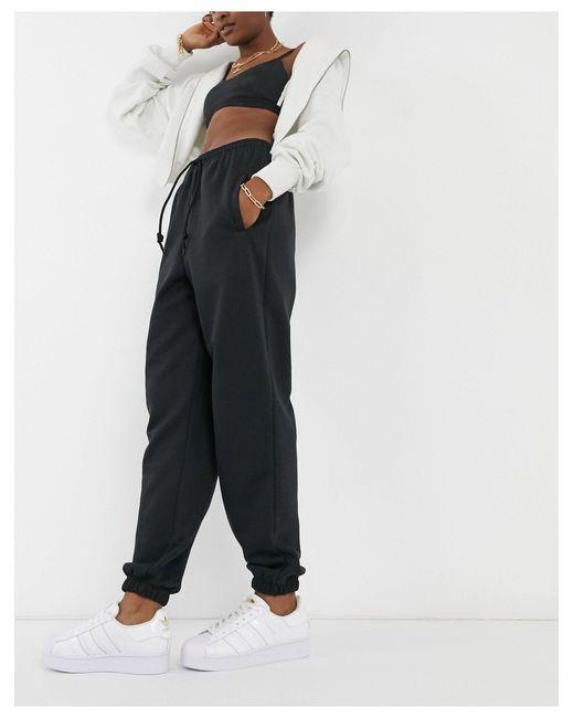 """Черные Oversized-джоггеры С Манжетами """"cozy Comfort""""-черный Adidas Originals, цвет: Black"""