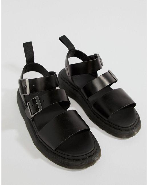 Черные Сандалии С Ремешками -черный Dr. Martens для него, цвет: Black