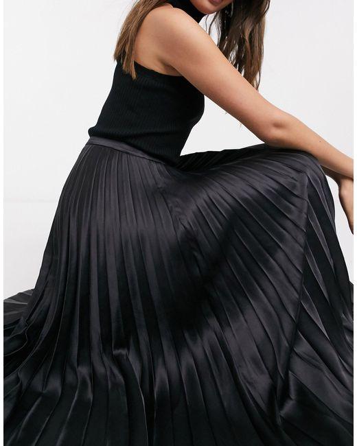 Черная Юбка Миди ASOS, цвет: Black