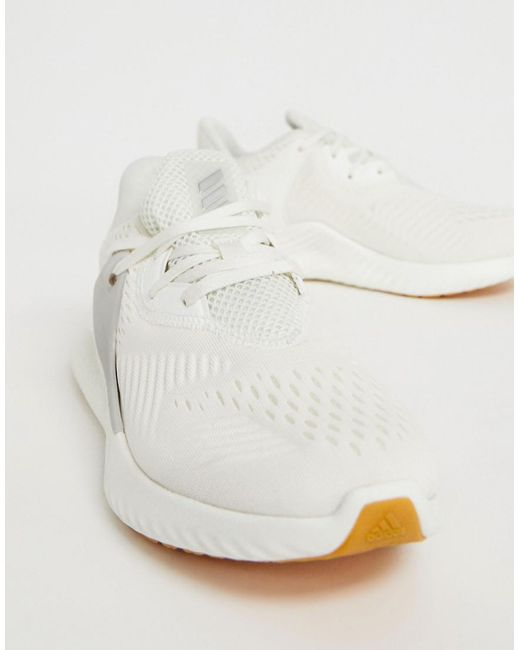 sale retailer 521df 0e62d Adidas - Running Alphabounce Trainers In White - Lyst ...