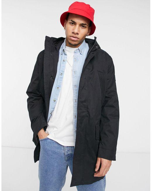 Tommy Hilfiger Black Hooded Parka Jacket for men