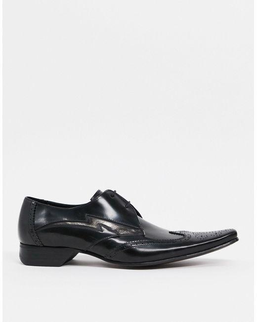 Jeffery West Black Pino Contrast Lightning Shoe for men