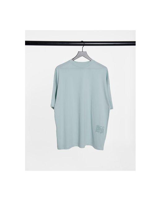 Camiseta extragrande con estampado ASOS 4505 de color Blue