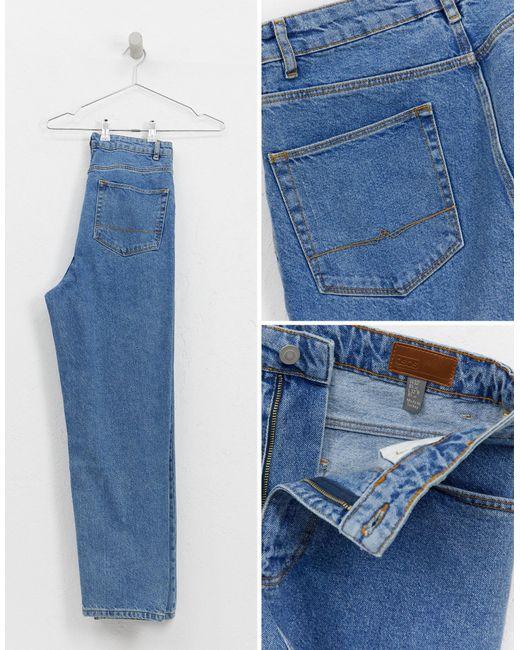 Jean taille haute - délavé moyen vintage ASOS pour homme en coloris Blue