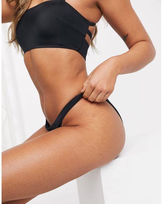 Черные Плавки-бикини Из Переработанных Материалов ASOS, цвет: Black