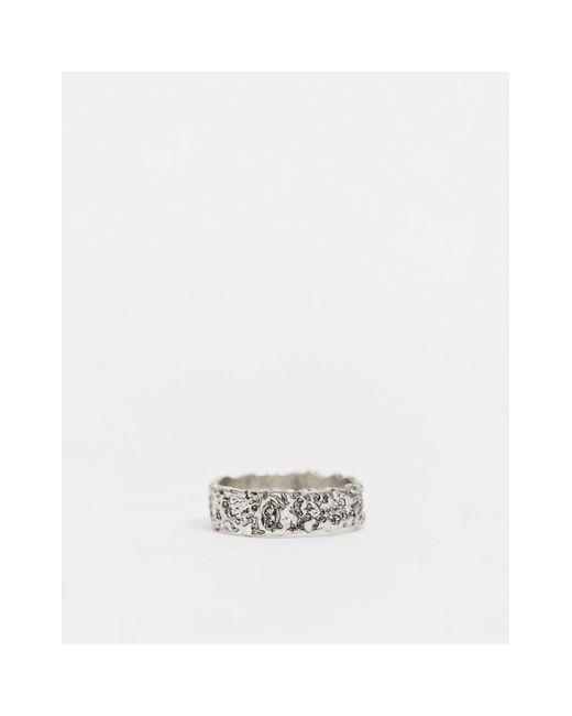 Широкое Кольцо С Потертостями Inspired-серебряный Reclaimed (vintage) для него, цвет: Metallic