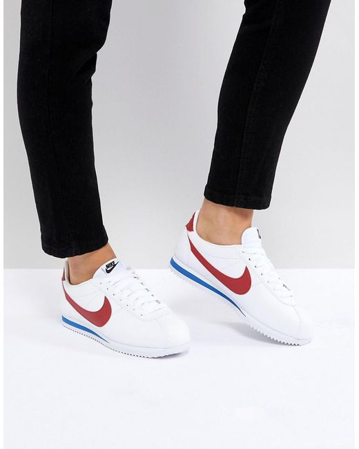 wholesale dealer 7b063 ab353 Nike - Multicolor Classic Cortez Trainers In Retro Leather - Lyst ...