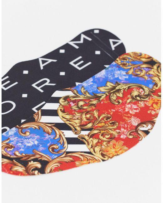 Набор Из 2 Масок Для Лица С Принтом В Стиле Барокко И Принтом Букв ASOS для него, цвет: Multicolor