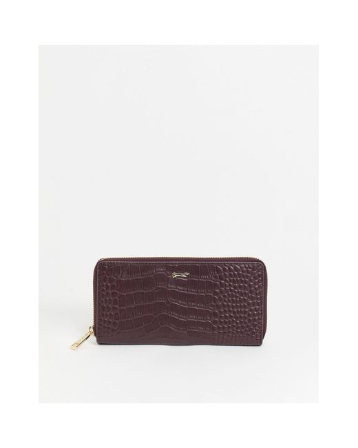 Paul Costelloe Red Leather Zip-around Wallet