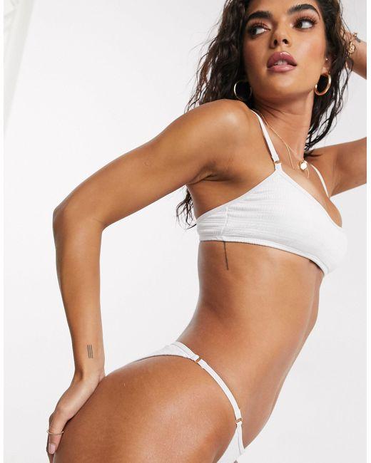 Купальник Из Бикини Топа-бралетта И Плавок Бикини -белый South Beach, цвет: White