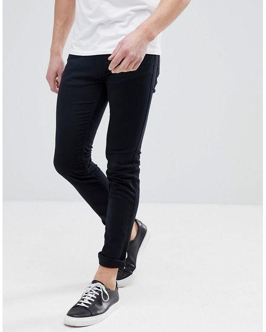 HUGO - Skinny Fit Stretch Jeans In Black for Men - Lyst